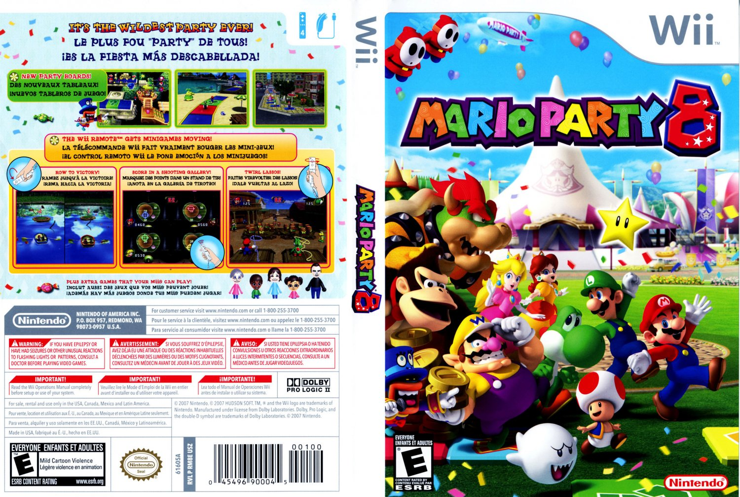 mario party 8 nintendo wii game covers mario party 8. Black Bedroom Furniture Sets. Home Design Ideas