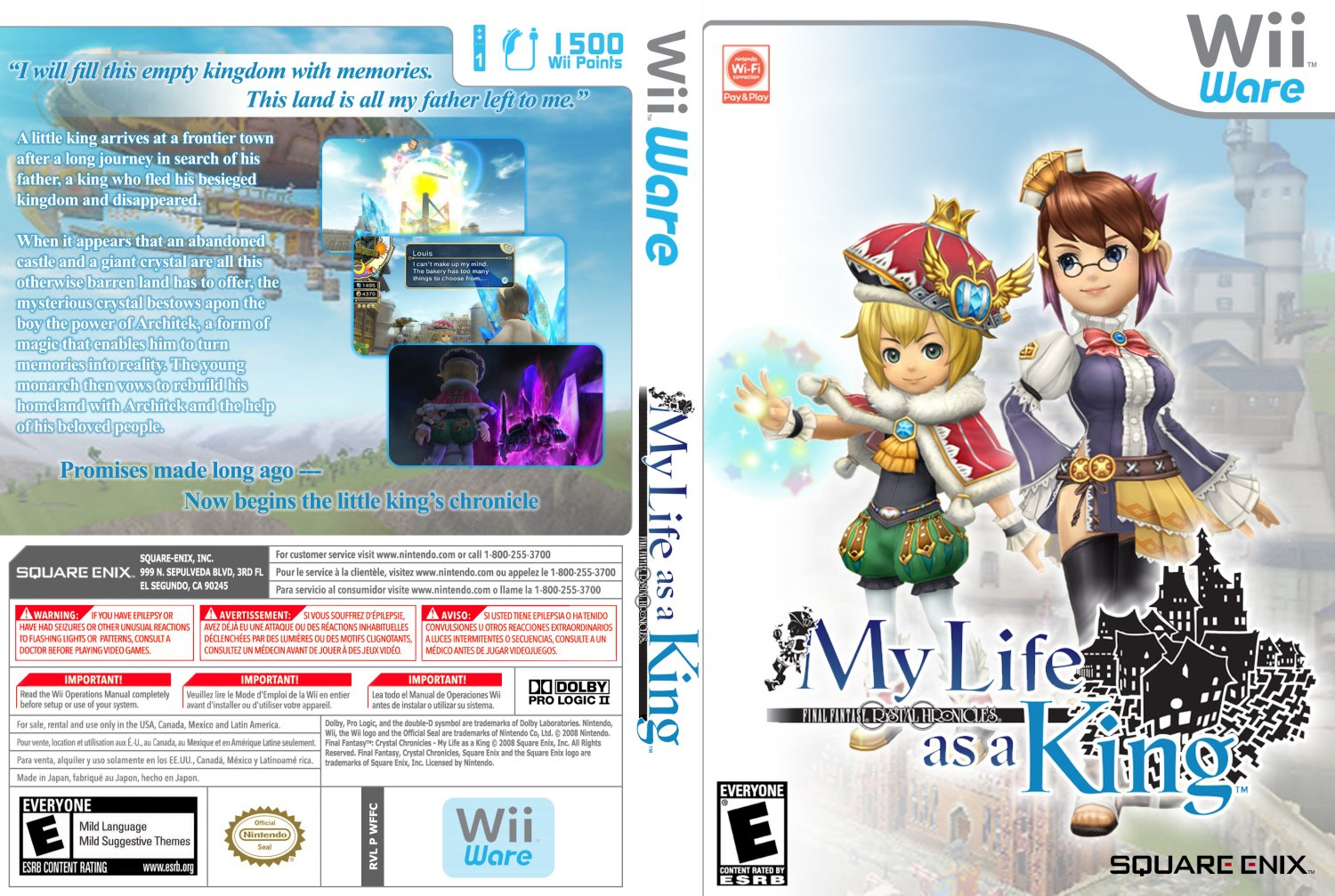 Final Fantasy Crystal Chronicles My Life as a King - WiiWare