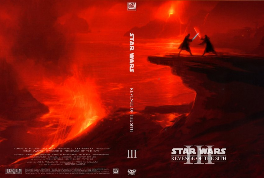 Star Wars III Revenge of The Sith - Movie DVD Custom ...