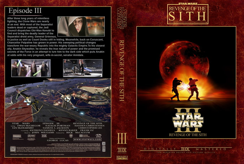 Episode III Revenge Of The Sith - Movie DVD Custom Covers ...