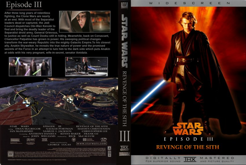 Star wars revenge of the sith dvd cover