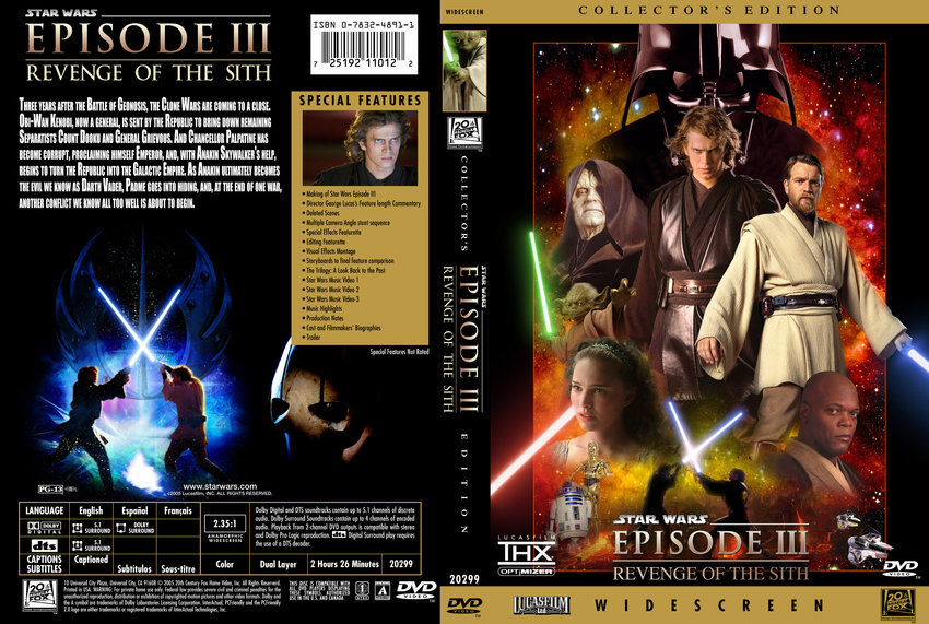 Star Wars Revenge Of The Sith - Movie DVD Custom Covers ...
