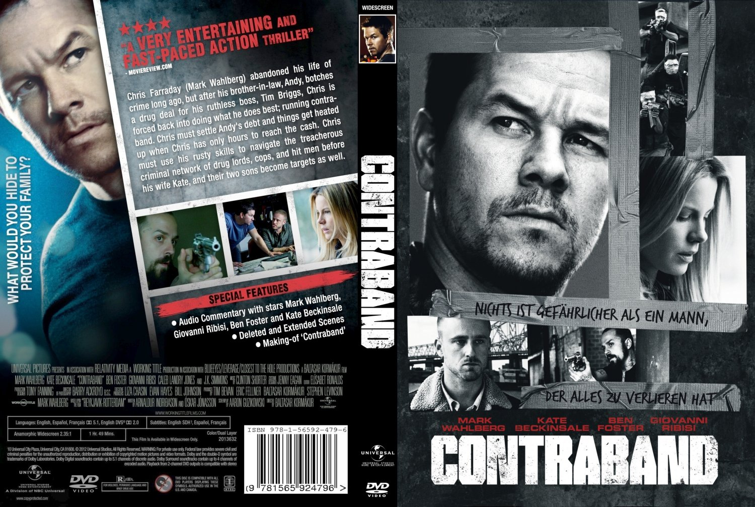 ... 2012) - Movie DVD Custom Covers - Contraband 2012-Cover :: DVD Covers