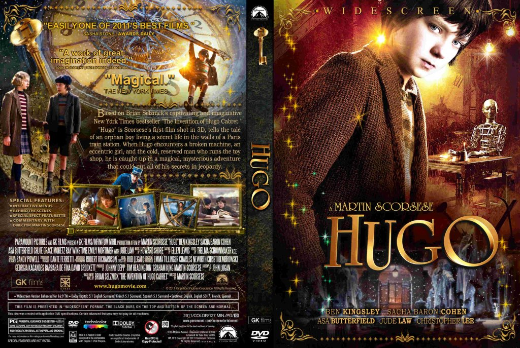 Hugo - Movie DVD Custom Covers - Hugo - Custom1 :: DVD Covers