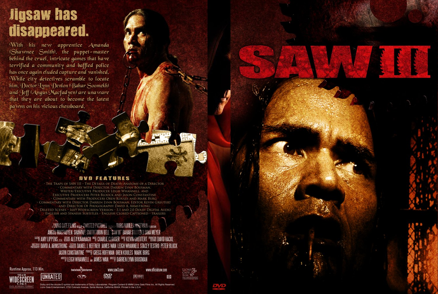 Saw Movies Dvd Covers Saw Dvd Cover Collection