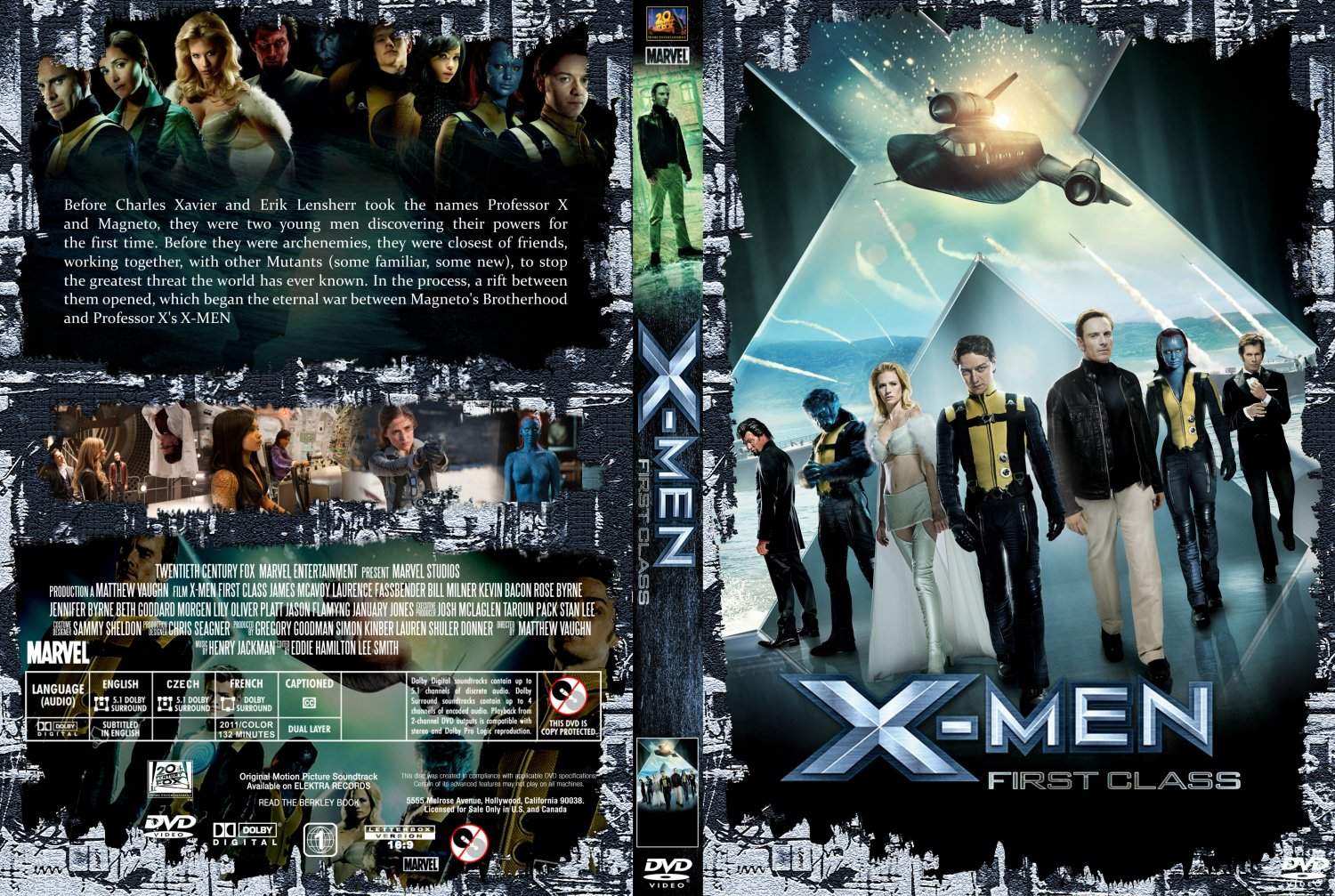 X Men Dvd Cover: X-Men-First Class Movie From W3 And Internet By Trivto On