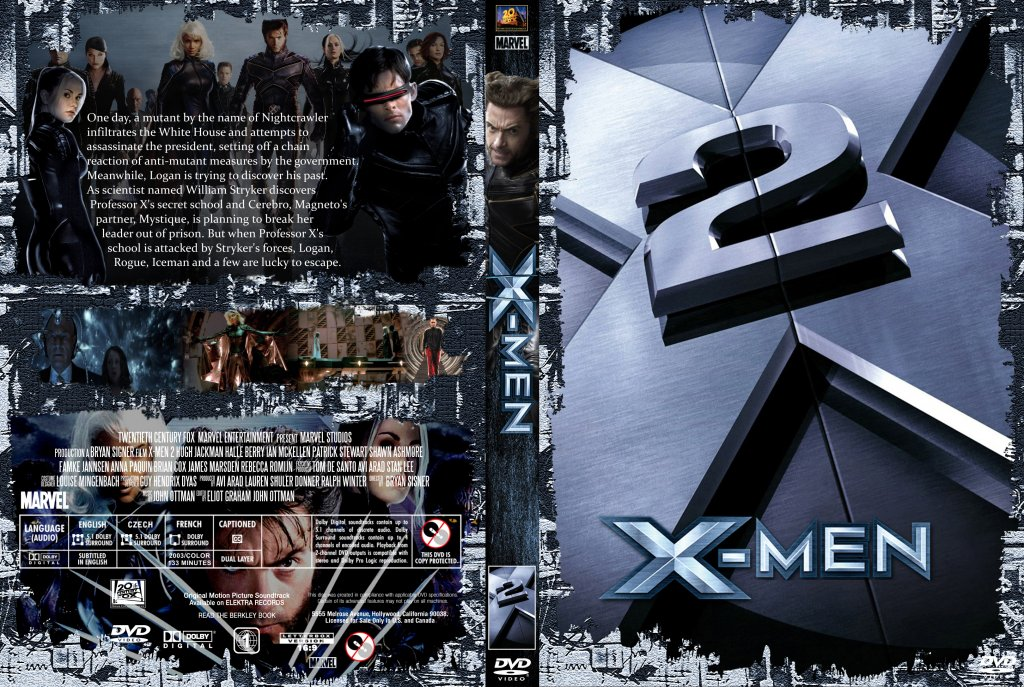 x2 xmen united movie dvd custom covers xmen 23