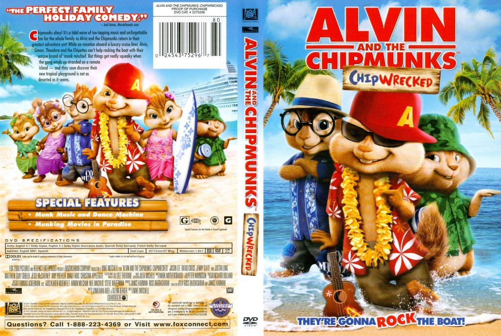 alvin and the chipmunks chipwrecked movie dvd scanned covers
