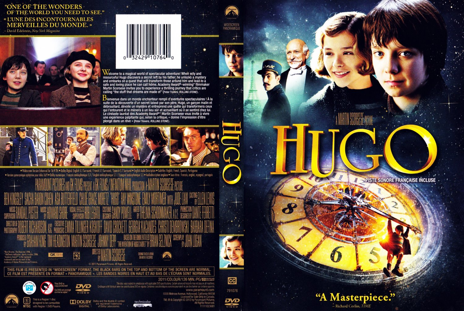 Hugo - Movie DVD Scanned Covers - Hugo - English French :: DVD Covers
