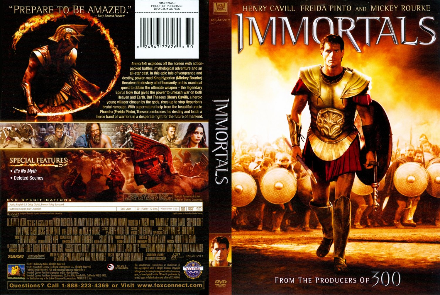 Immortals - Movie DVD Scanned Covers - Immortals1 :: DVD Covers