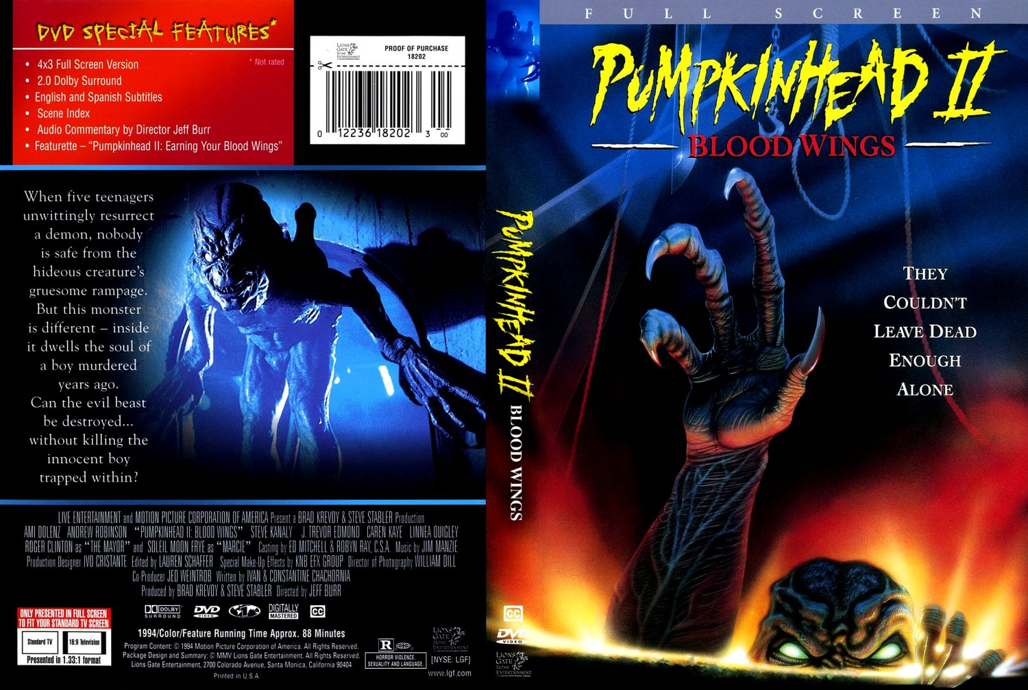 Pumpkinhead 2 Blood Wings