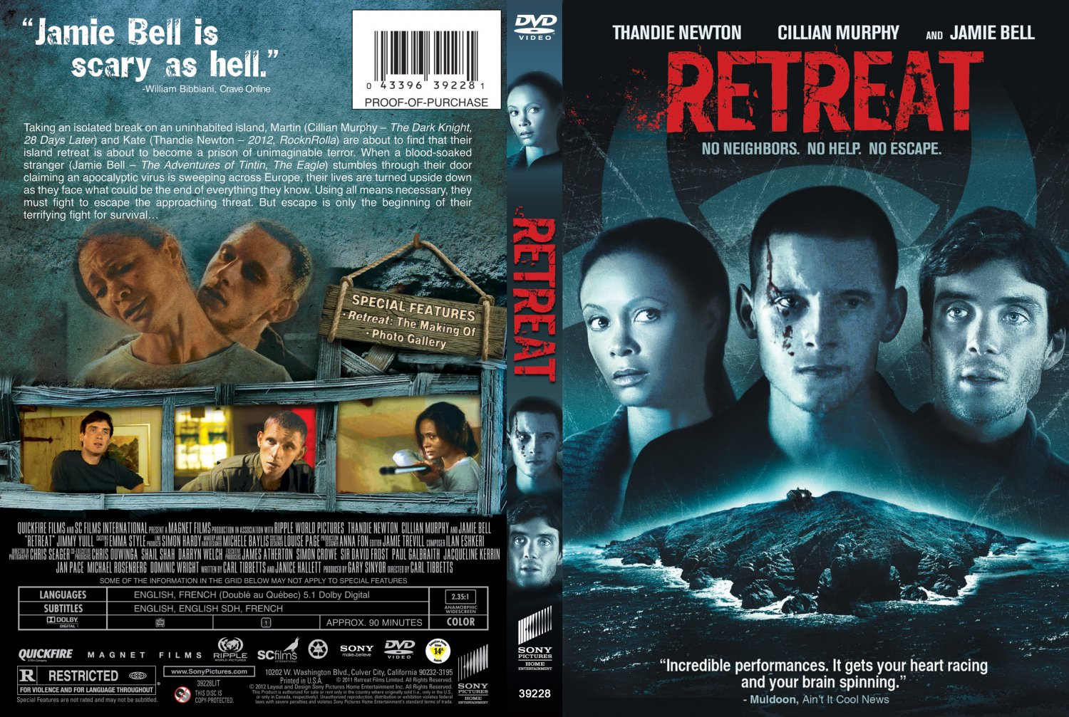 Retreat - Movie DVD Scanned Covers - Retreat DVD :: DVD Covers