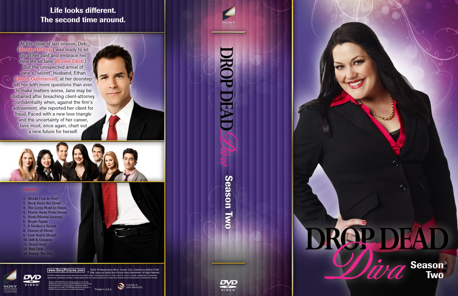 Drop dead diva season 2 tv dvd custom covers drop dead diva season 2 customlarge dvd covers - Drop dead diva dvd ...