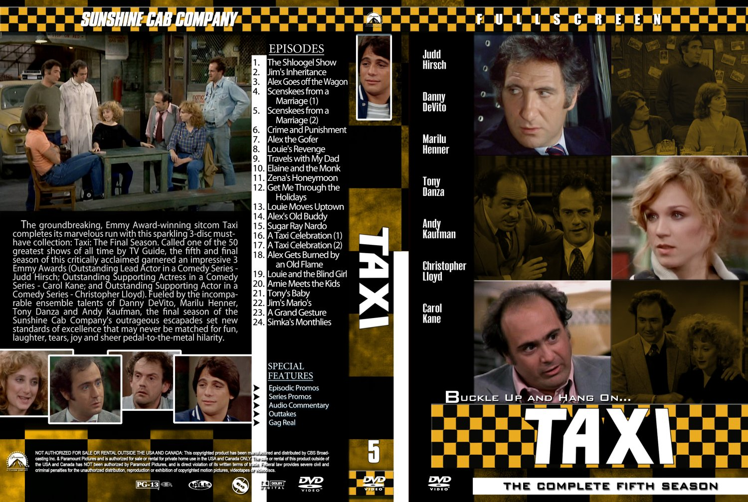 taxi season 5 tv dvd custom covers taxi season 5 custom dvd covers. Black Bedroom Furniture Sets. Home Design Ideas