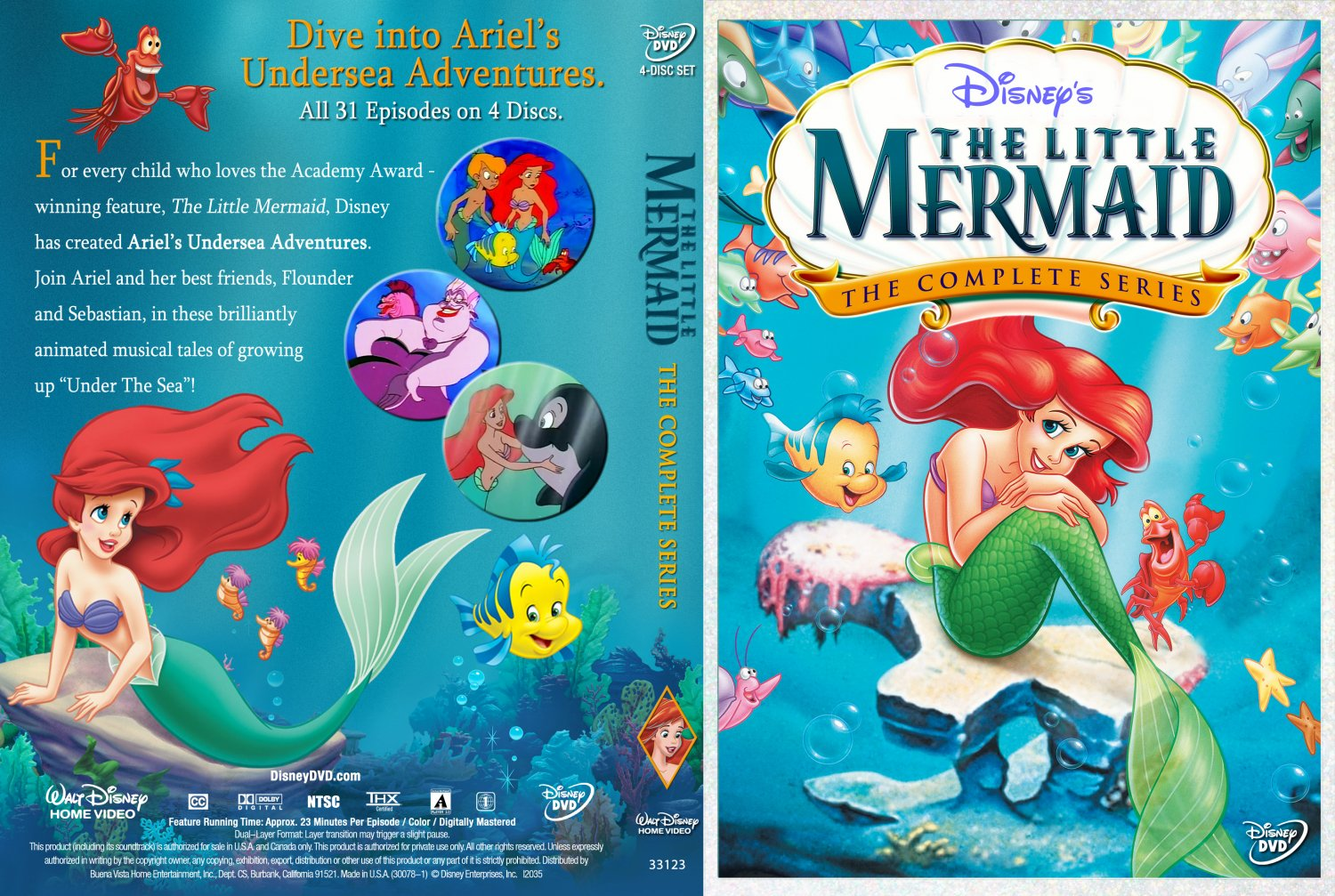 The Little Mermaid - The Complete Series - TV DVD Custom ...