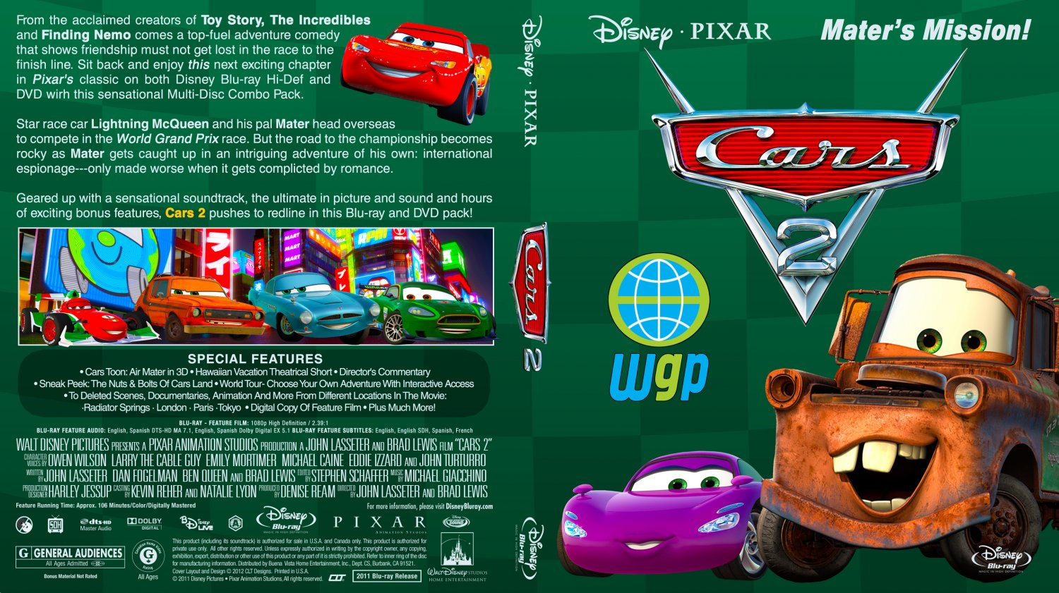 cars 2 movie blu ray custom covers cars2brcltv1 dvd covers. Black Bedroom Furniture Sets. Home Design Ideas