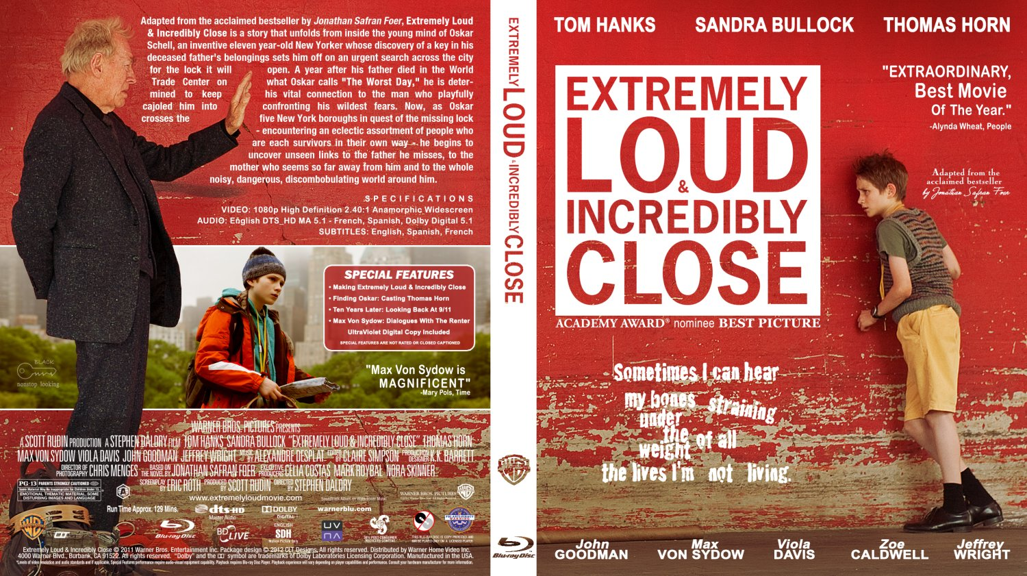 Extremely Loud & Incredibly Close - Movie Blu-Ray Custom ...