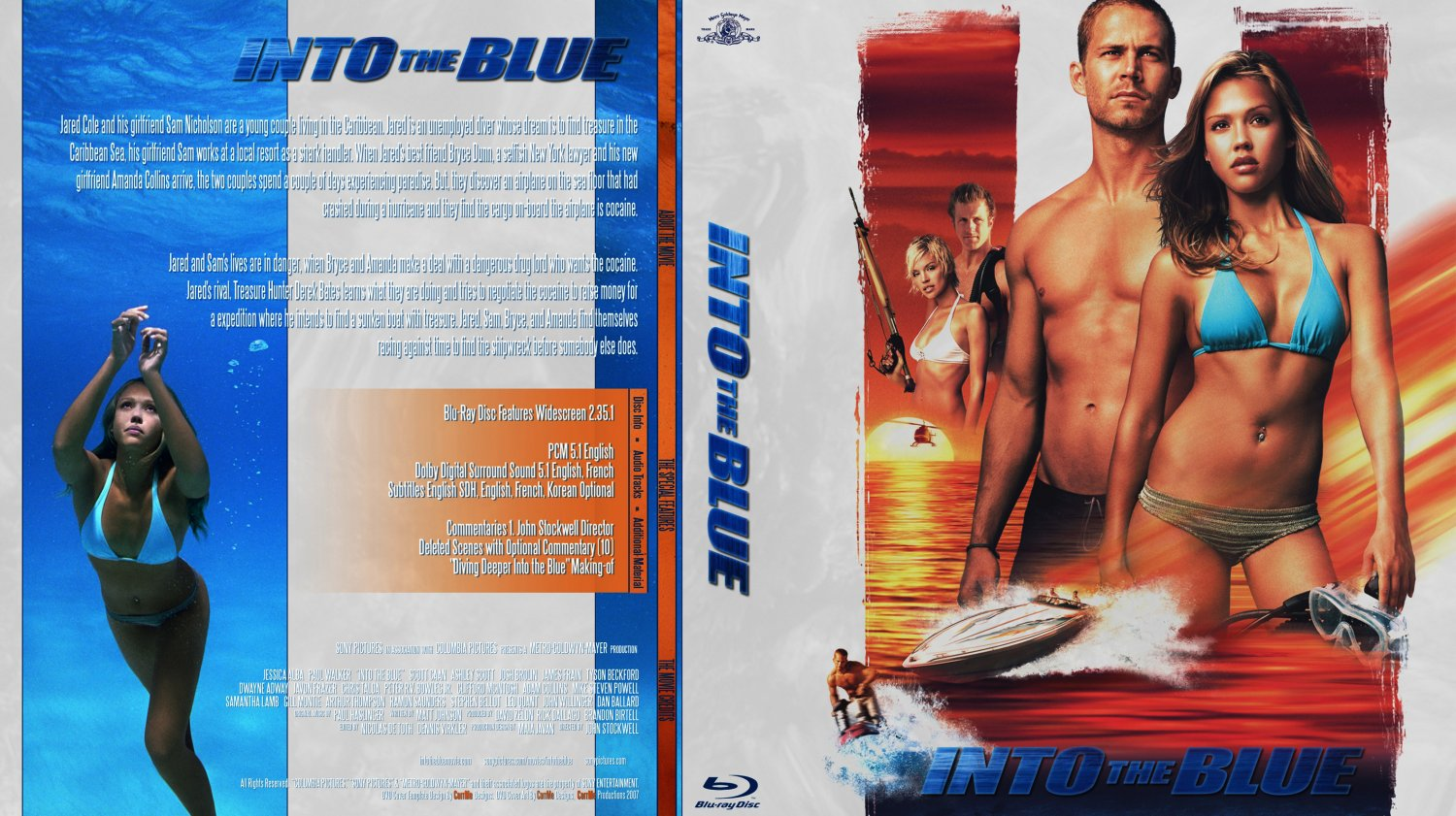 into the blue movie blu ray custom covers into the blue custom bluray f dvd covers. Black Bedroom Furniture Sets. Home Design Ideas