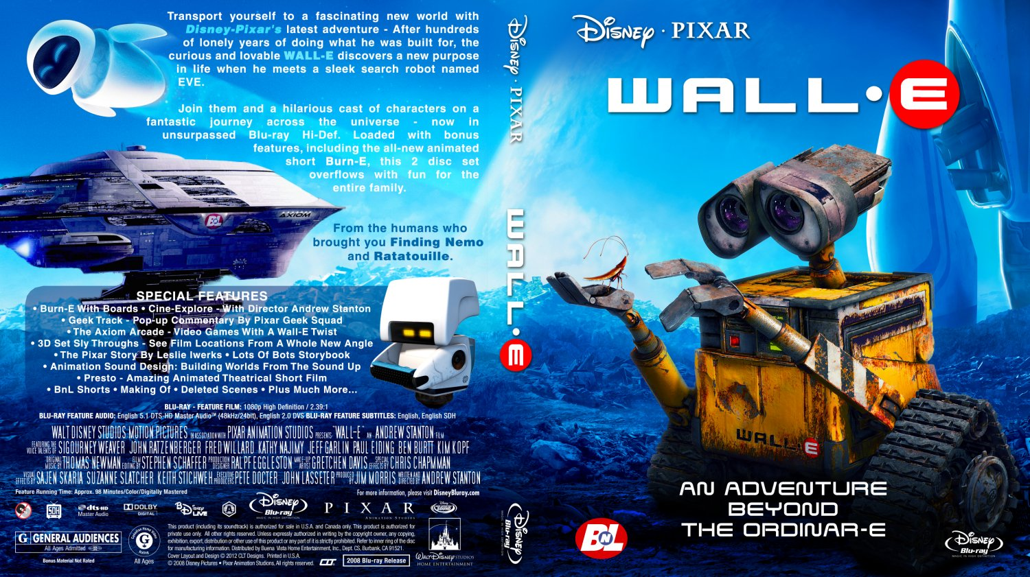 walle movie bluray custom covers wallebrcltv1 dvd