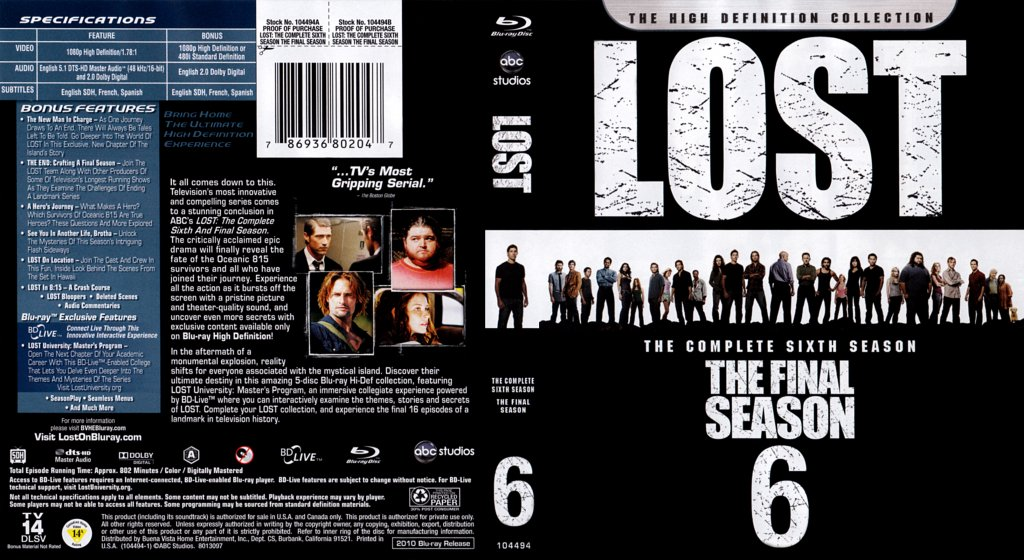 Lost Season 6 - English - Bluray f