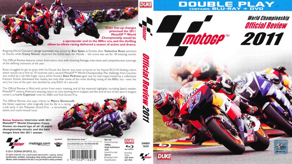 MotoGP Official Review - TV Blu-Ray Scanned Covers - MotoGP Official Review - Bluray :: DVD Covers
