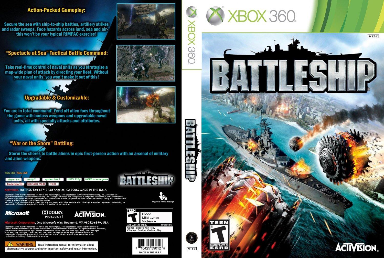 Ship Games For Xbox 360 : Battleship xbox game covers dvd ntsc
