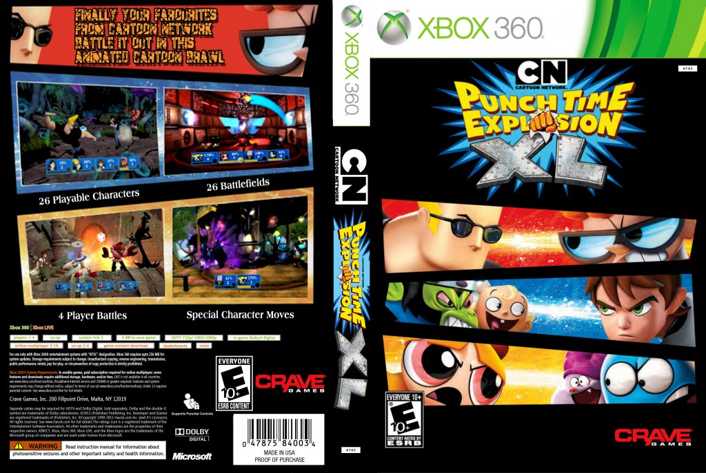 Cartoon Network Punch Time Explosion Xl Xbox 360 Game Covers