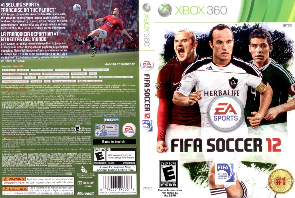 FIFA Soccer 12 - XBOX 360 Game Covers - FIFA Soccer 12 DVD English ...