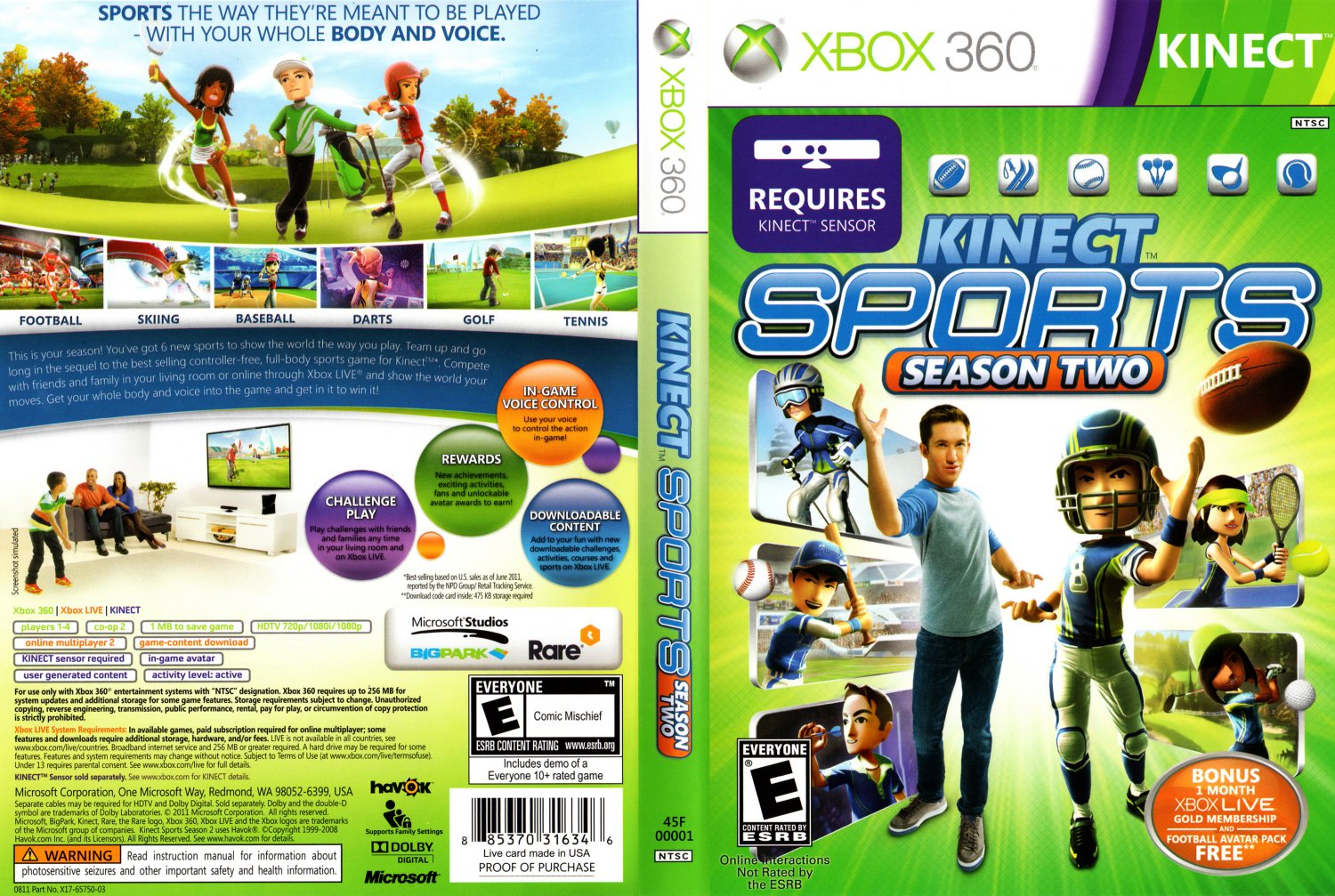 Kinect Sports Season 2 - XBOX 360 Game Covers - Kinect Sports Season 2 ...