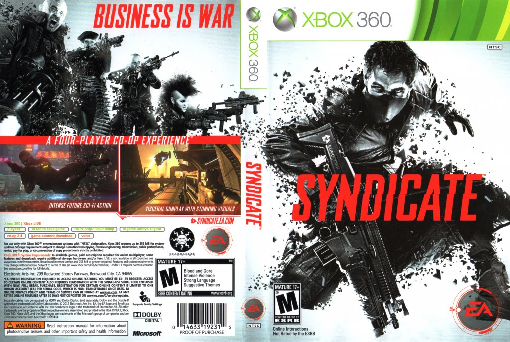 Syndicate - XBOX 360 Game Covers - Syndicate DVD NTSC f ...