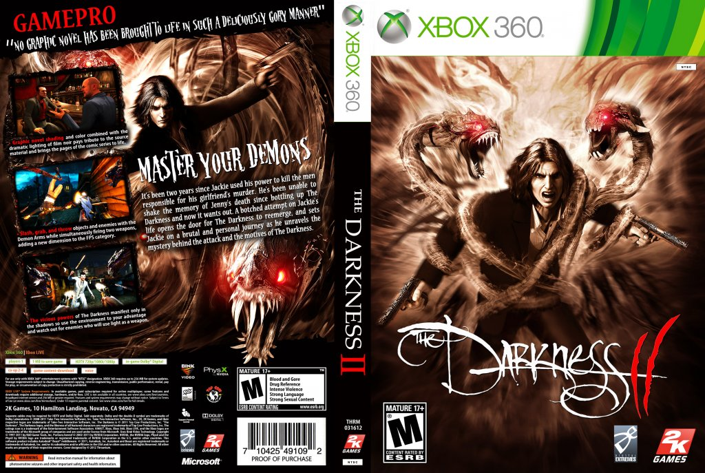 The Darkness II - XBOX 360 Game Covers - x360-tdii-thrm ...