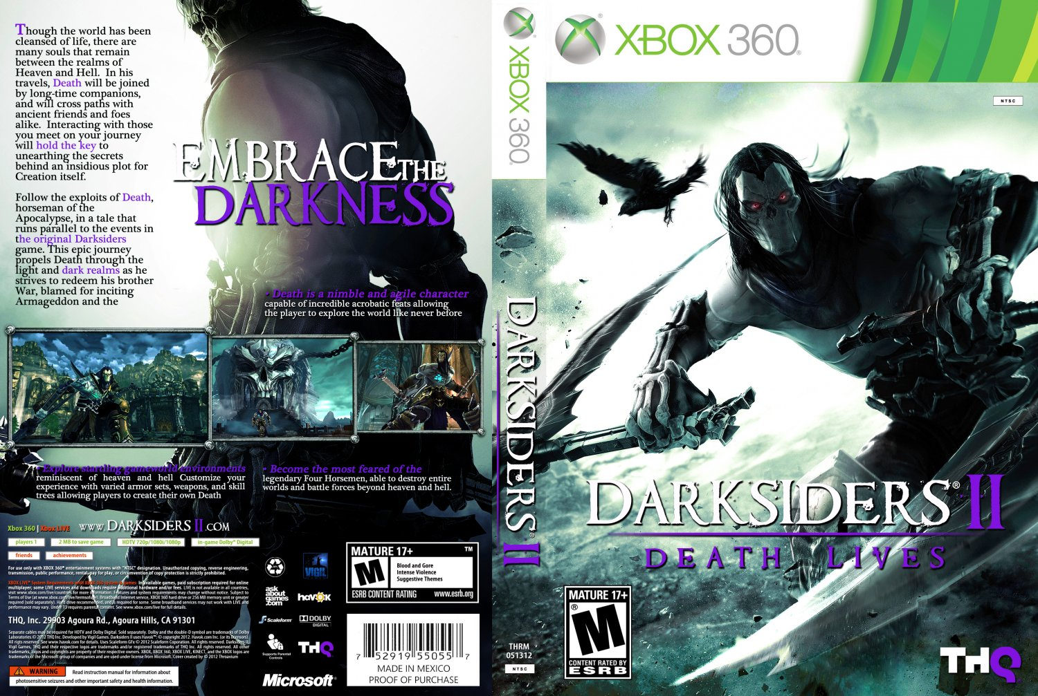Darksiders II - XBOX 360 Game Covers - x360-thrm-dii-ntsc ...