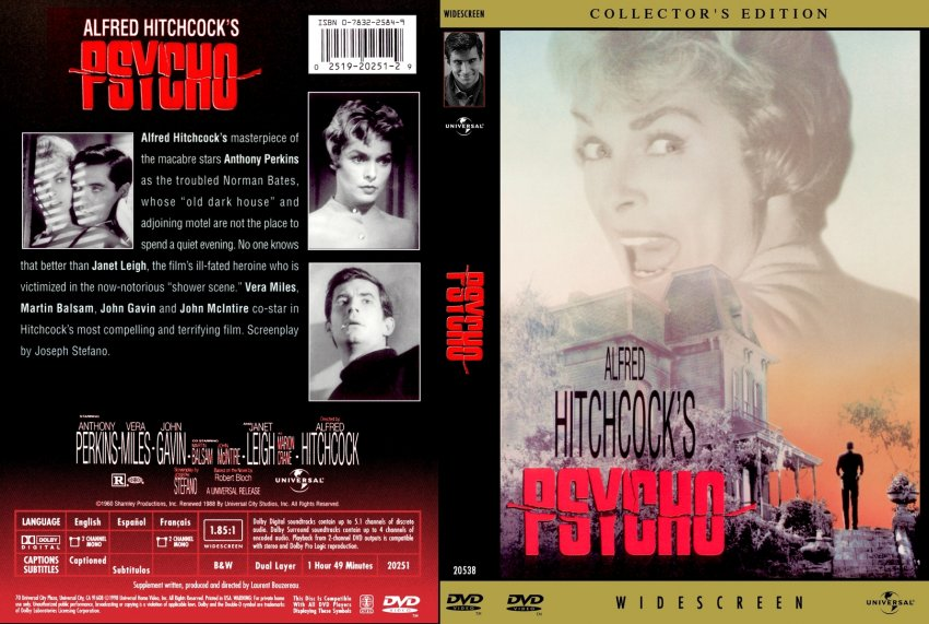 psycho movie dvd custom covers 264psycho 1960 custom