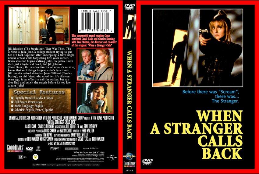 when a stranger calls back movie dvd custom covers