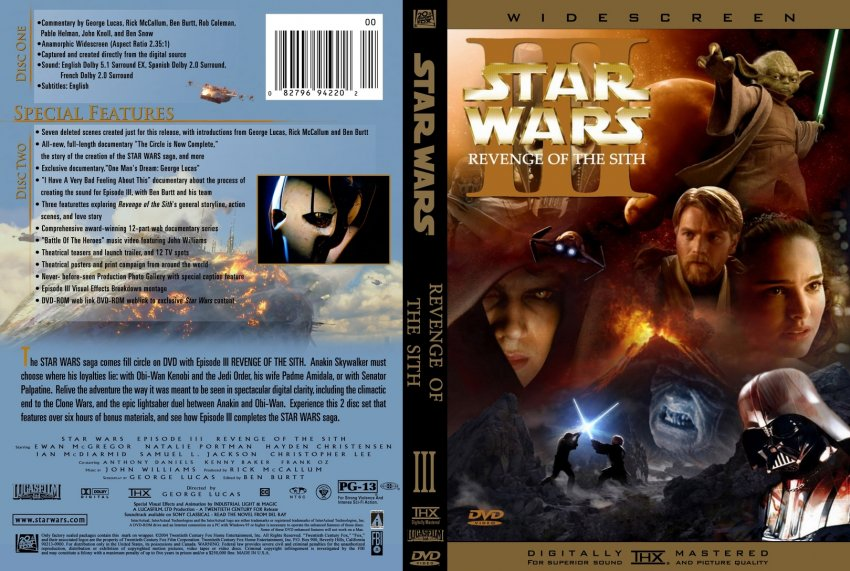 Star Wars Episode Iii Revenge Of The Sith Movie Dvd Custom Covers 264sith Happens Dvd Covers