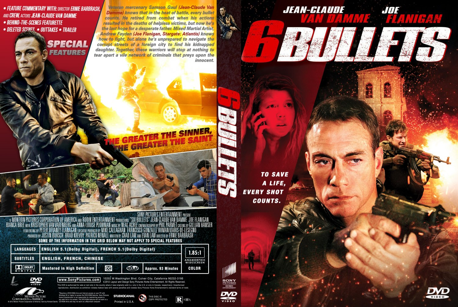 ... Six Bullets - Movie DVD Custom Covers - 6 Bullets Cover :: DVD Covers