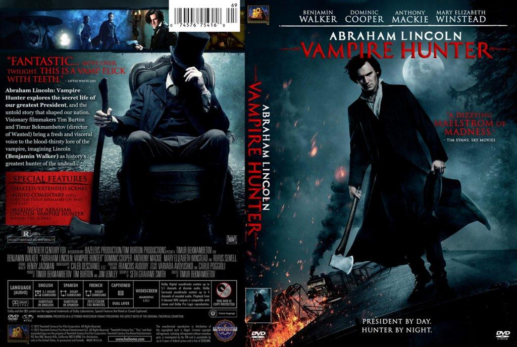 Abraham Lincoln - Vampire Hunter - Movie DVD Custom Covers ...
