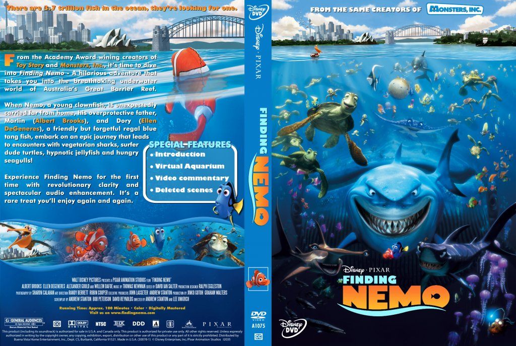Finding Nemo - Movie DVD Custom Covers - Finding Nemo4 ...