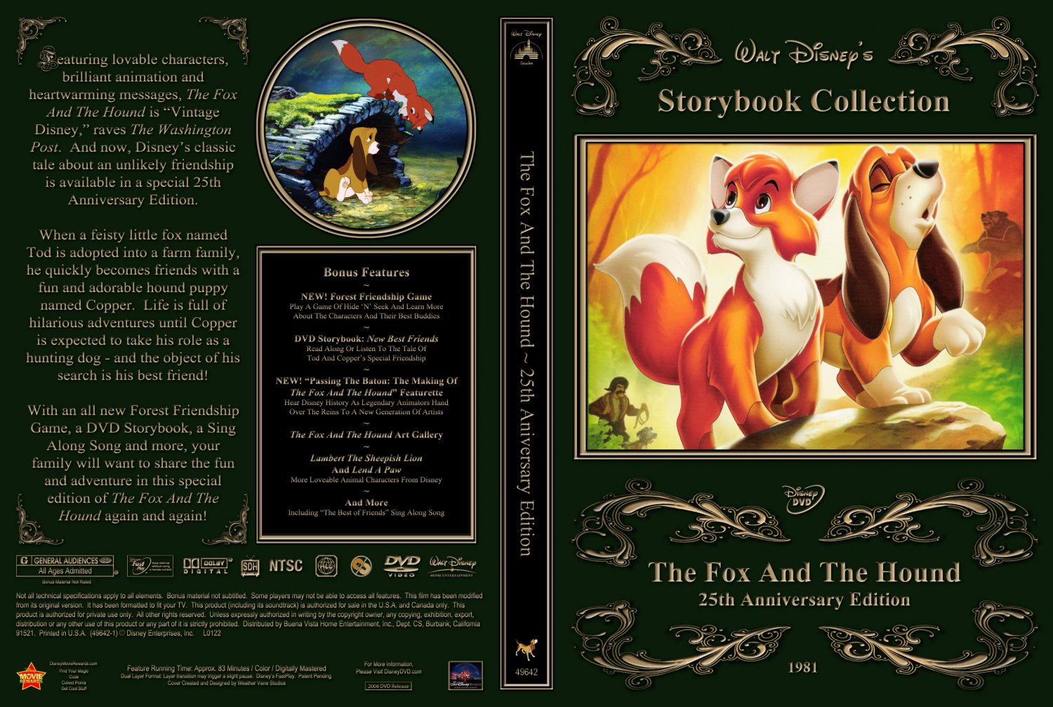 The Fox And The Hound - Movie DVD Custom Covers