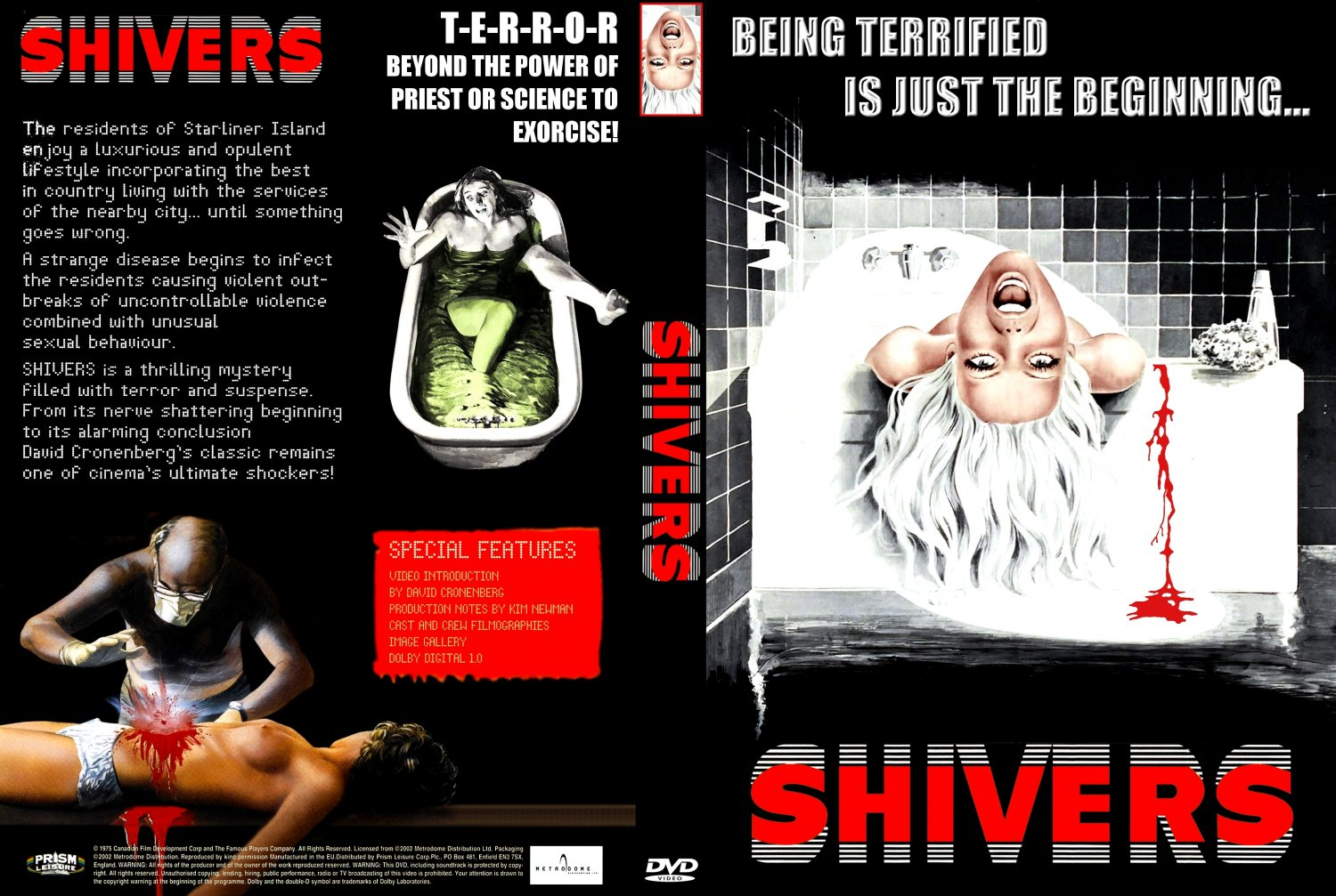 Shivers - Movie DVD Custom Covers - Shivers1 :: DVD Covers