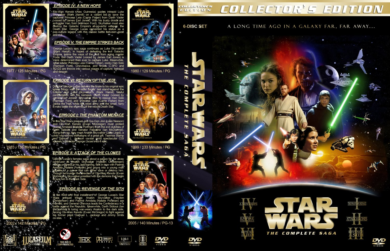 star wars the complete saga movie dvd custom covers