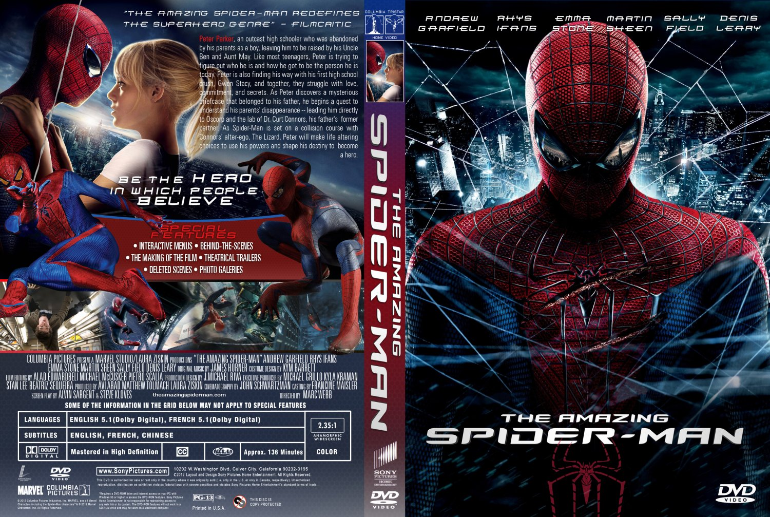 The Amazing Spider-man - Movie DVD Custom Covers