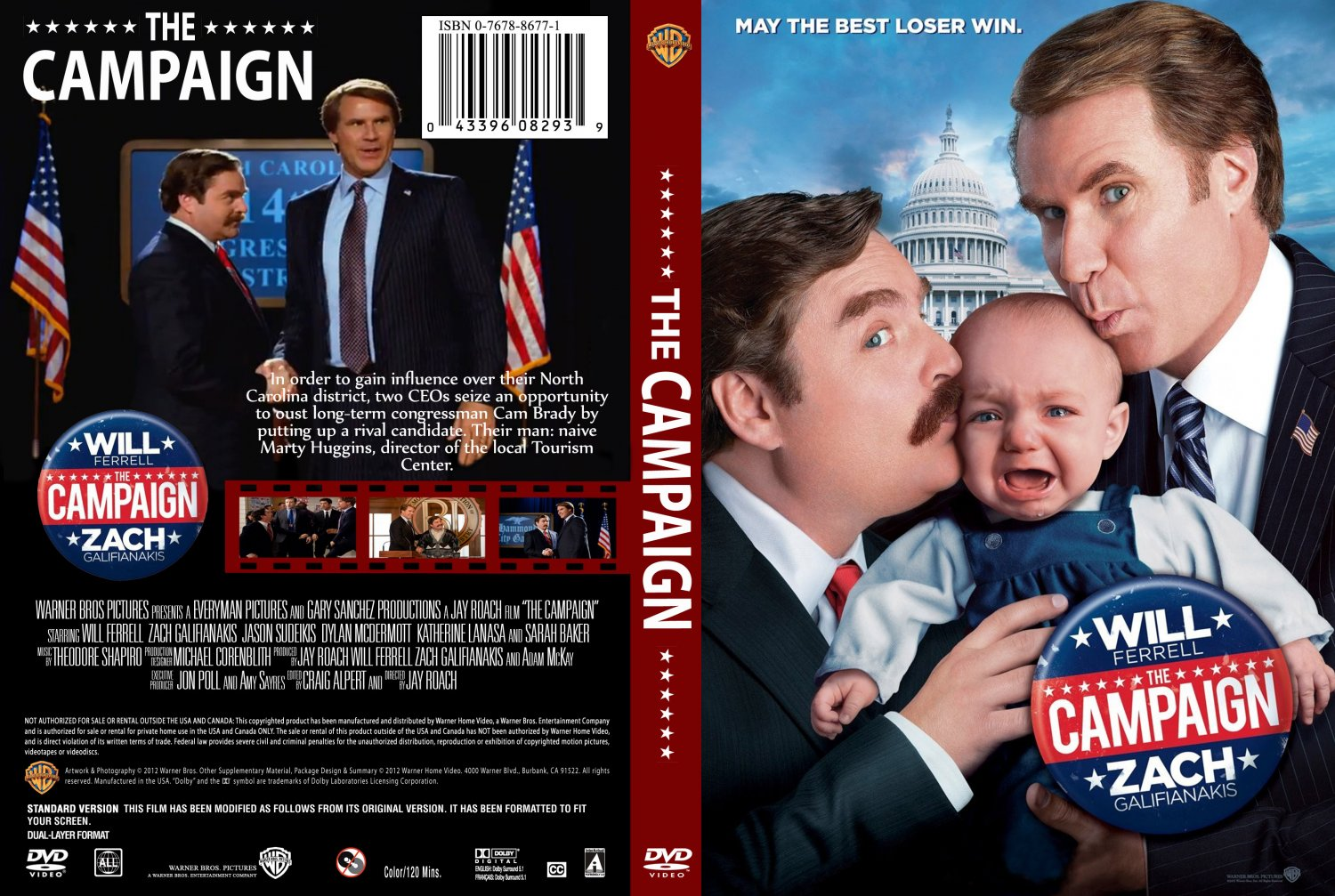 The Campaign - Movie DVD Custom Covers - The Campaign ...