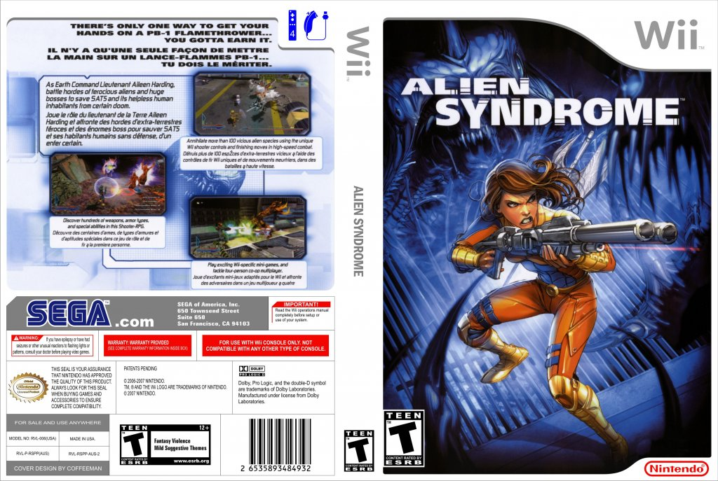 Alien syndrome nintendo wii game covers alien syndrome for Alien syndrome