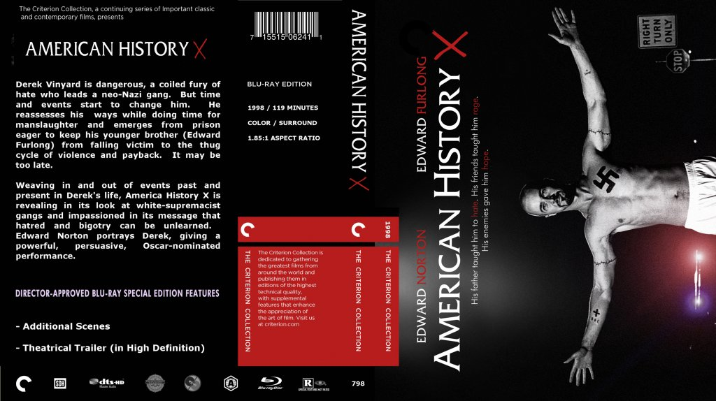american history x the movie 2434 words american history x (1998) director: tony kaye writer: david  this  movie failed at being anti-racist because it gave the whites the.