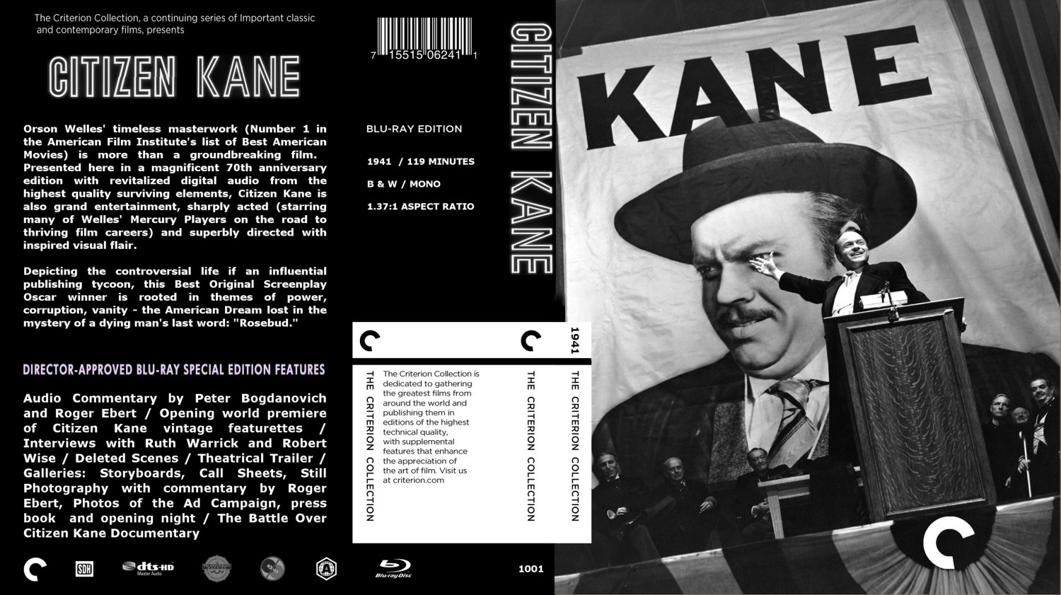 citizen kane number 1 in history Citizen kane was a film released in 1941 and it it was voted #1 in history of american film it was written by, directed by and acted by orson welles the story was set in xanada in florida and started with an introduction about that place.