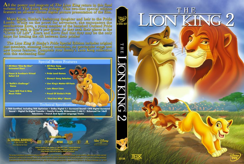 The Lion King 2 Simbas Pride Special Edition Custom Movie Dvd Custom Covers 280lion King2 Dl Hires Dvd Covers