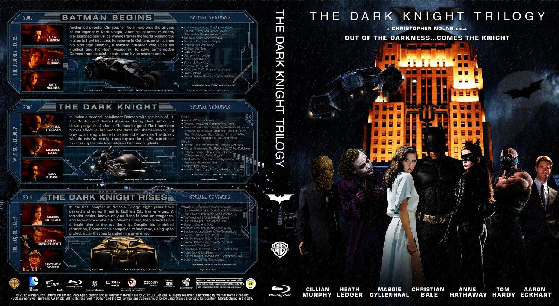 The Dark Knight Trilogy Movie Blu Ray Custom Covers