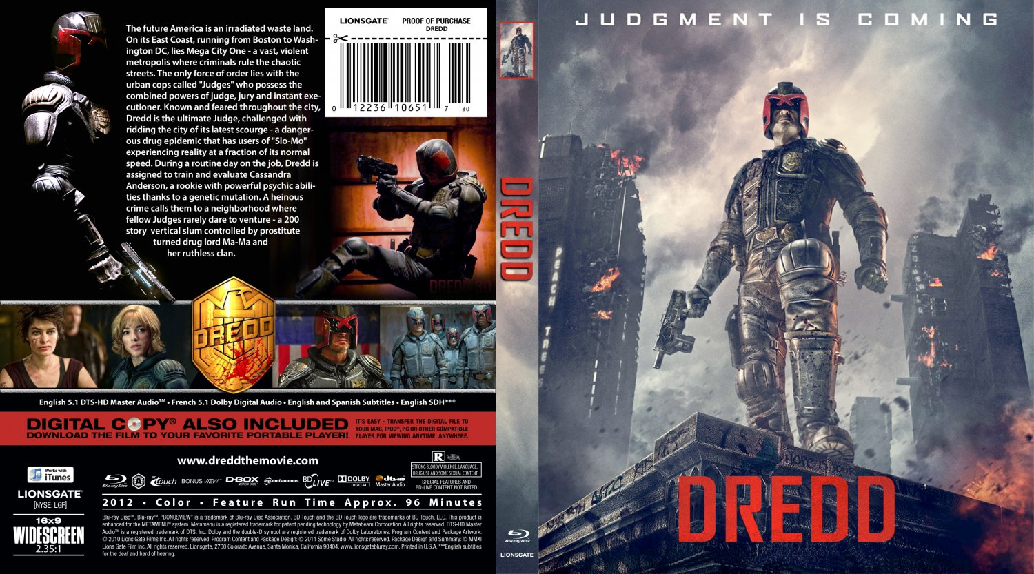 dredd movie blu ray custom covers dredd br dvd covers. Black Bedroom Furniture Sets. Home Design Ideas