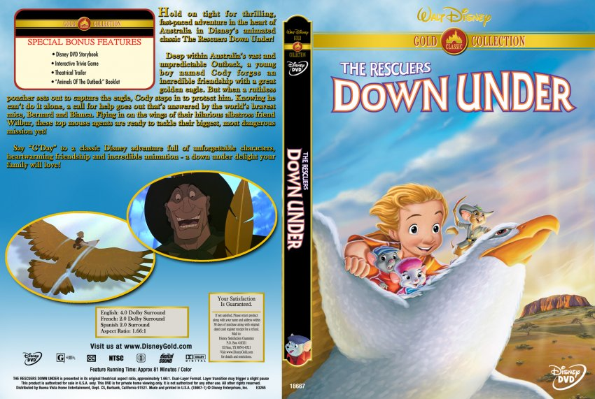 Rescuers Down Under Dvd The Rescuers Down Under Gold
